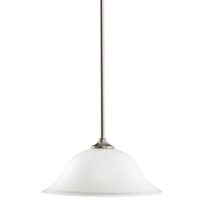 Wedgeport Brushed Nickel Dome Pendant