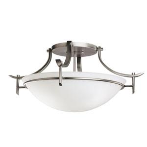 Olympia Antique Pewter Semi-Flush Ceiling Light