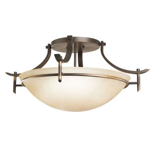 Olympia Olde Bronze Semi-Flush Ceiling Light