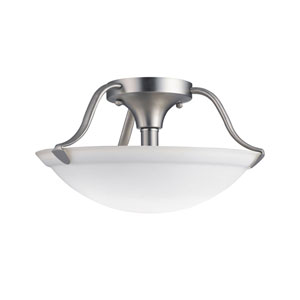 Brushed Nickel Semi-Flush Ceiling Light