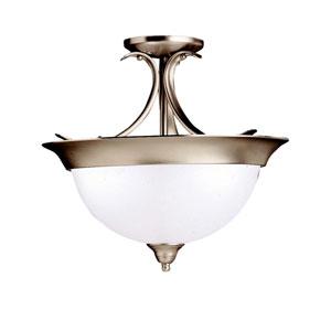Dover Brushed Nickel Semi-Flush Ceiling Light