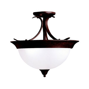 Dover Tannery Bronze Semi-Flush Ceiling Light