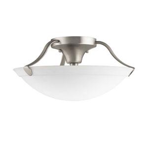 Brushed Nickel Large Semi-Flush Ceiling Light