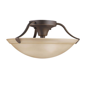 Olde Bronze Large Semi-Flush Ceiling Light