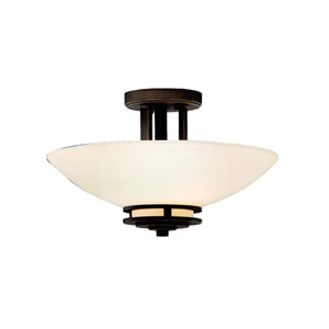 Hendrik Olde Bronze Semi-Flush Ceiling Light