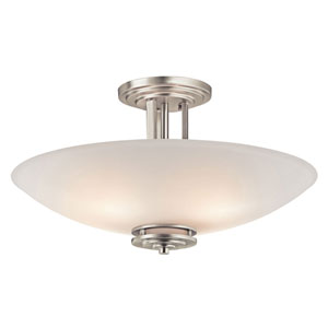 Hendrik Brushed Nickel Four-Light Semi-Flush Mount