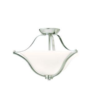 Langford Brushed Nickel Semi-Flush Ceiling Light