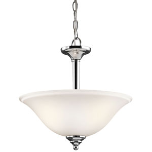 Armida Two-Light Chrome Convertible Pendant