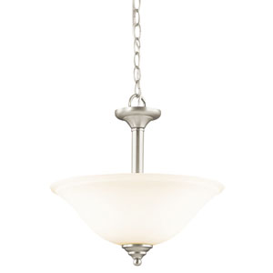 Wynberg Brushed Nickel Two-Light Convertible Semi Flush Mount