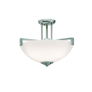 Eileen Brushed Nickel Semi-Flush Ceiling Light
