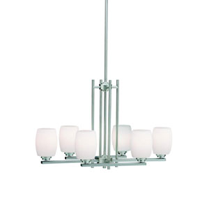 Eileen Brushed Nickel Six-Light Island Pendant