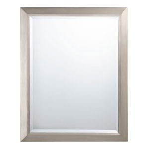 Brushed Nickel Rectangular Mirror