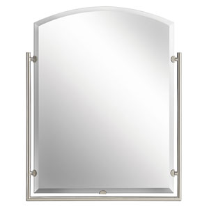 Structures Brushed Nickel Mirror