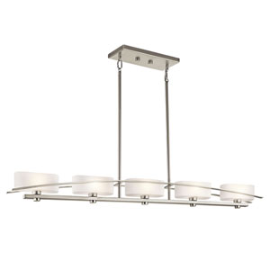 Suspension Brushed Nickel Island Pendant