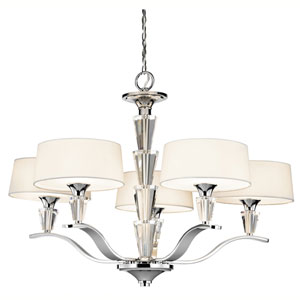 Crystal Persuasion Chrome Five-Light Chandelier