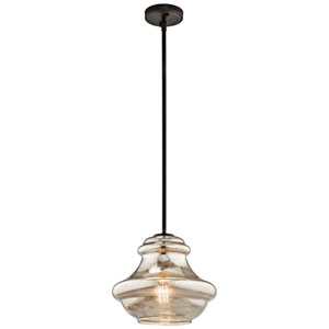 Everly Olde Bronze One Light Pendant