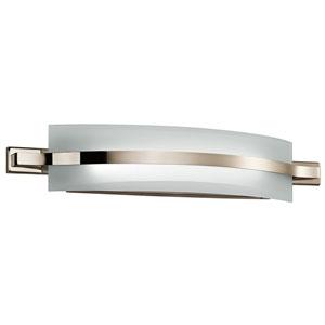 Freeport Polished Nickel 28-Inch Two-Light LED Bath Bar