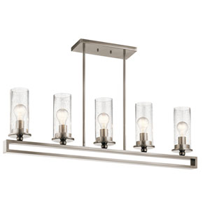 Kayde Classic Pewter Five-Light Linear Pendant
