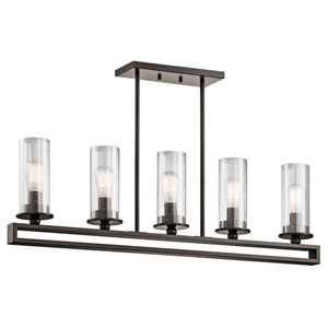 Kayde Olde Bronze Five Light Single Linear Chandelier