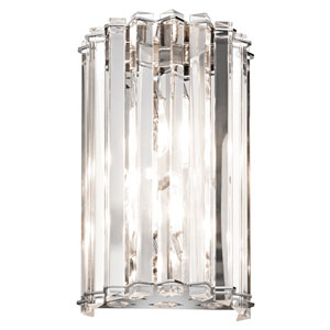 Crystal Skye Chrome Wall Sconce