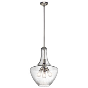 Everly Brushed Nickel Three-Light Pendant