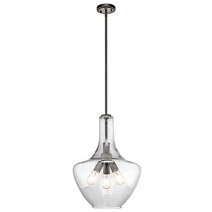 Everly Olde Bronze 16-Inch Three-Light Pendant
