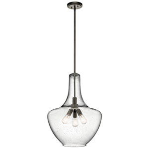 Everly Olde Bronze 20-Inch Three-Light Pendant