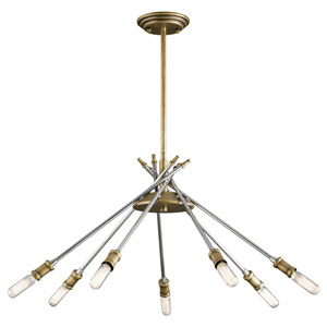 Doncaster Natural Brass 24-Inch Seven-Light Chandelier