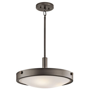 Lytham Olde Bronze Three-Light Convertible Semi-Flush Light