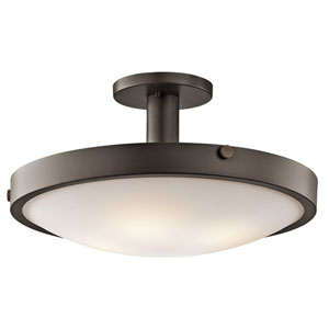 Lytham Olde Bronze Four-Light Semi-Flush Light