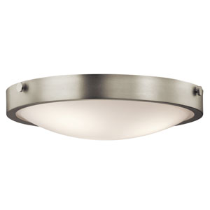 Lytham Brushed Nickel Three-Light Flush Mount