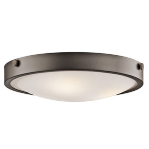 Lytham Olde Bronze Three-Light Flush Mount