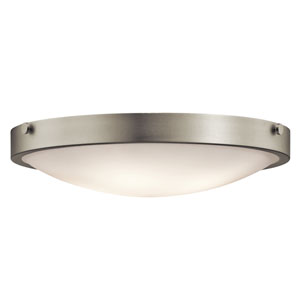 Lytham Brushed Nickel Four-Light Flush Mount