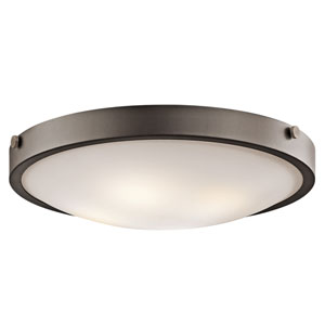 Olde Bronze Four-Light Flush Mount