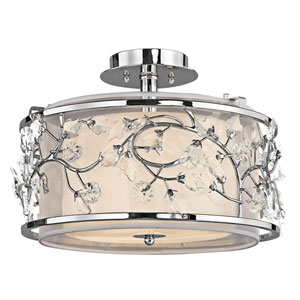 Jardine Chrome Three-Light Semi-Flush