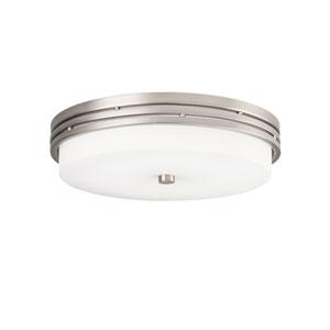 Ceiling Space Brushed Nickel LED Flush Mount Light