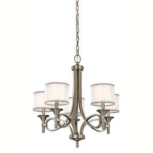 Lacey Antique Pewter Five-Light Chandelier