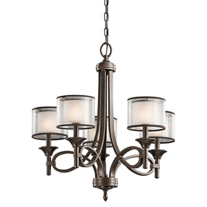 Lacey Mission Bronze Five-Light Chandelier