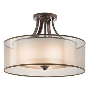 Lacey Mission Bronze Four-Light Semi-Flush Mount