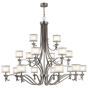 Lacey Antique Pewter 18-Light Chandelier