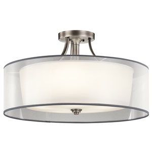 Lacey Antique Pewter Five-Light Semi Flush Mount