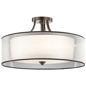 Lacey Mission Bronze Five-Light Semi Flush Mount