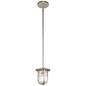 Caparros Brushed Nickel Convertible Mini Pendant