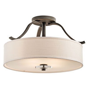 Leighton Olde Bronze Four-Light Semi-Flush Mount