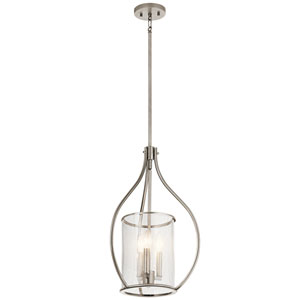 Fiona Classic Pewter 15-Inch Three-Light Foyer Pendant