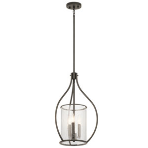 Fiona Olde Bronze 15-Inch Three-Light Foyer Pendant