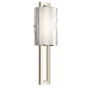 Jewel Polished Nickel 7-Inch LED Wall Sconce