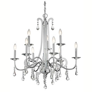 Leanora Chrome Nine-Light Chandelier