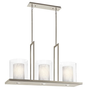 Triad Classic Pewter Three-Light Pendant - Width 11.5 Inches