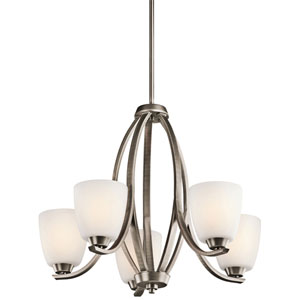 Granby Brushed Pewter Five-Light Chandelier
